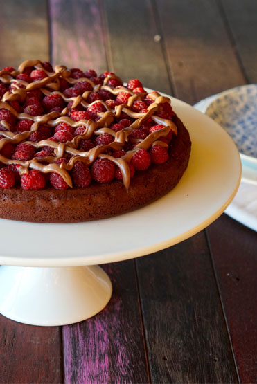 The Merrymaker Sisters Choc Raspberry Ganache Cake