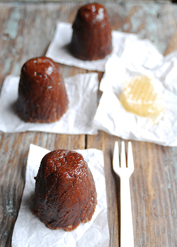 Chocolate White Mulberry Canelé