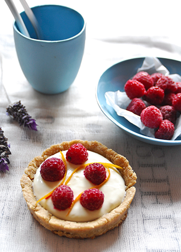 Lavender Infused Raspberry Tartlets