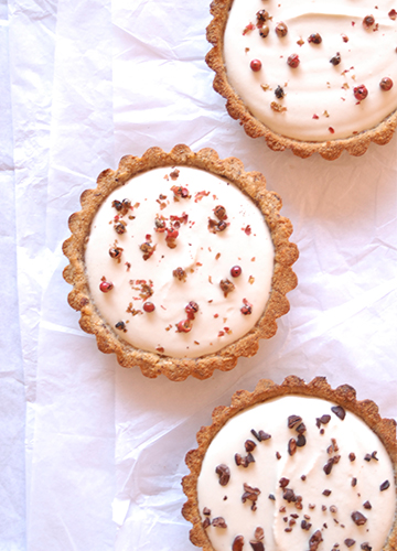 Mascarpone Tartlets with Pink Peppercorns