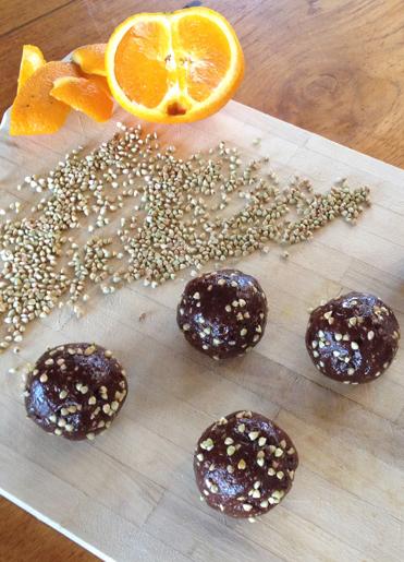 Orange Buckini Balls