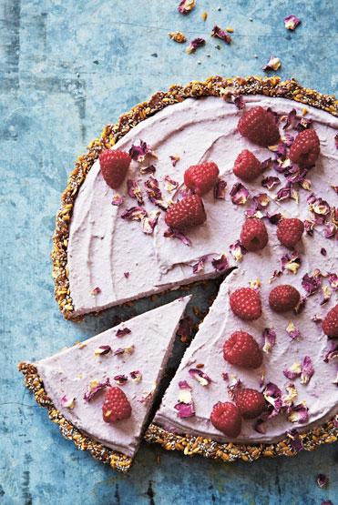 Tashi's Raw Rose & Raspberry Tart