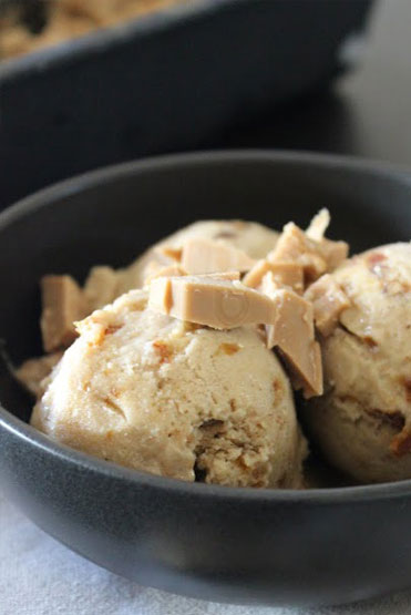 Salted Caramel Banana Ice Cream