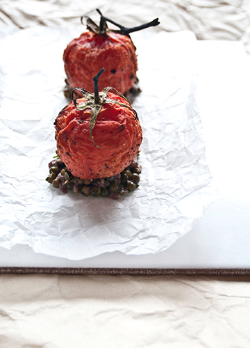 Semi–Dried Tomato with Truffle Tapenade