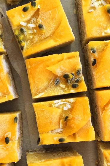 Coconut Mango 'Weis Bar' Slice