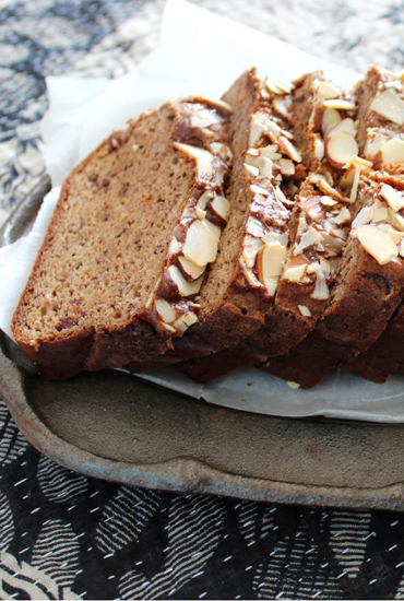 Banana & Almond Butter Maca Bread
