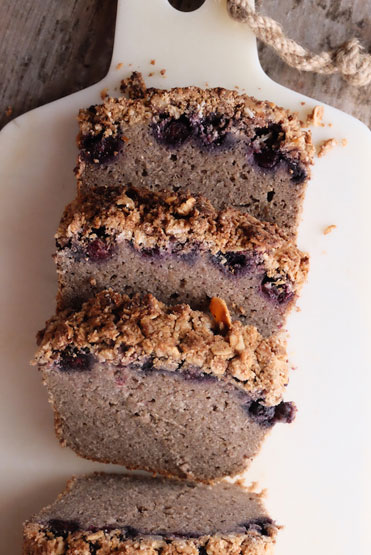Blueberry Crumble Loaf