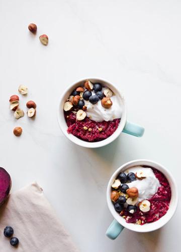 Cauli Beet Breakfast Cups