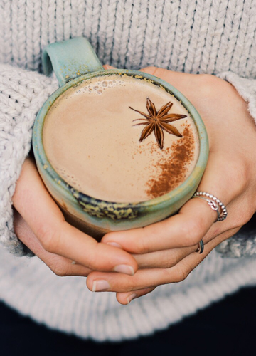 Hot Chocolate Chai with Fresh Almond Mylk