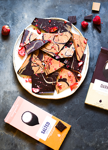 Salted Caramel and Dark Chocolate Bark
