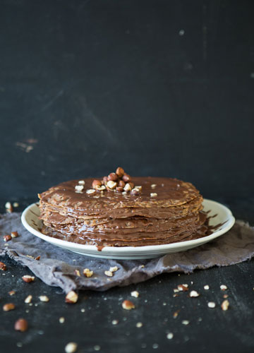 Vegan Chocolate Crepe Cake