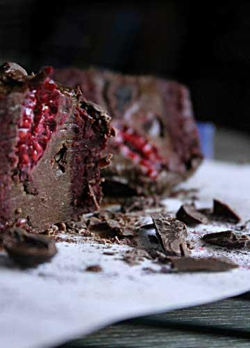 Dark Choc + Raspberry Beet Velvet Cake