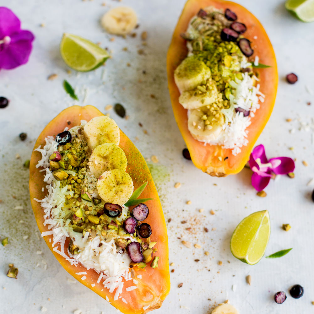 Tropical Papaya Breakfast Bowls