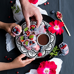 Summer Berry Rice Paper Rolls