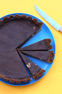 Espresso and Walnut Chocolate Tart
