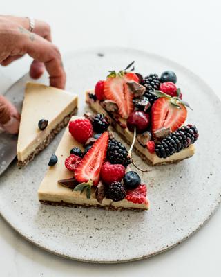 Raw Choc-berry Cheesecake