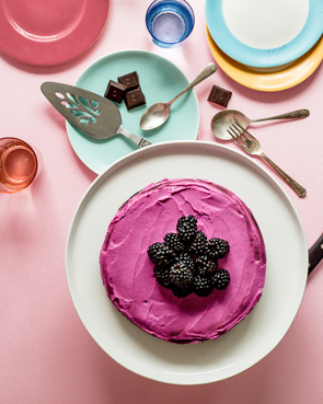Chocolate Beetroot Cake with Pitaya Coconut Cream