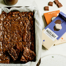 Double Hazelnut Chocolate Chunk Brownies