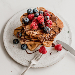 Vegan French Toast Stack