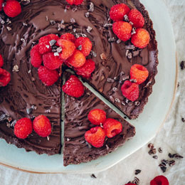 Raspberry Chocolate Cream Pie