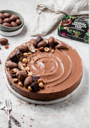 Hazelnut Chocolate Easter Tart